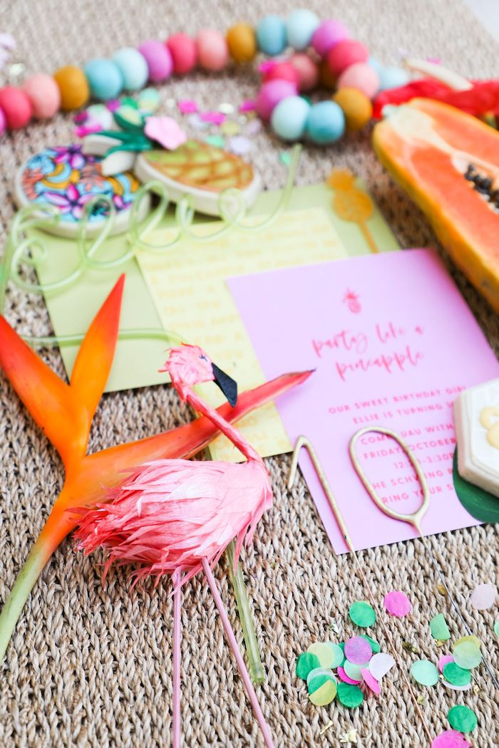 Tropical Pineapple Birthday Party on Kara's Party Ideas | KarasPartyIdeas.com (13)