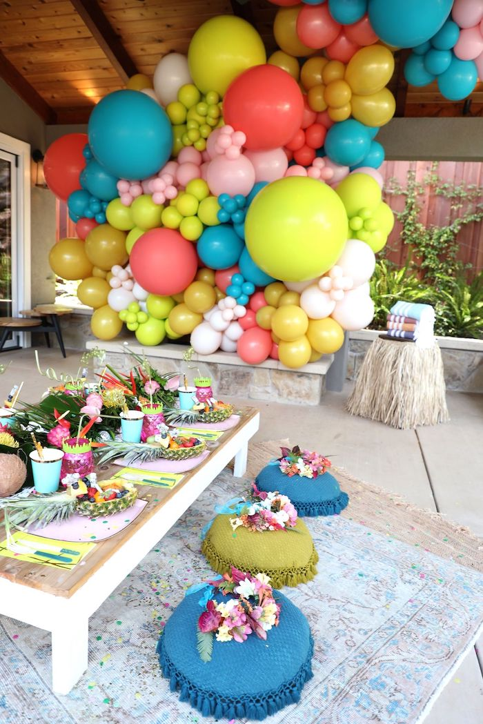 Tropical Pineapple Birthday Party on Kara's Party Ideas | KarasPartyIdeas.com (6)