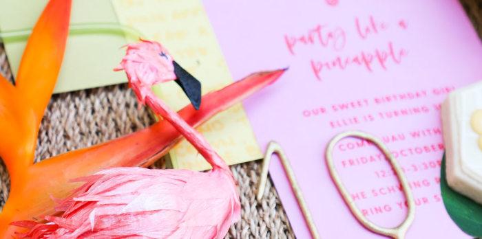 Tropical Pineapple Birthday Party on Kara's Party Ideas | KarasPartyIdeas.com (5)