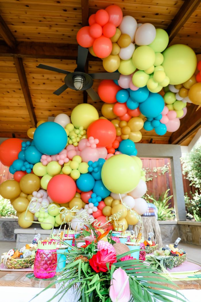 Tropical Pineapple Birthday Party on Kara's Party Ideas | KarasPartyIdeas.com (30)