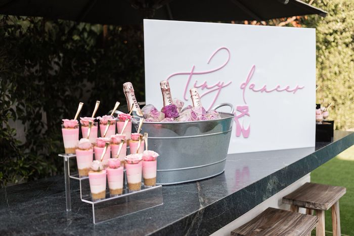 Tiny Dancer Beverage + Sweet Table from a Tutu Cute Birthday Party on Kara's Party Ideas | KarasPartyIdeas.com (30)
