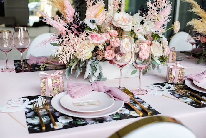 Pink + White Ballet-inspired Table Setting from a Tutu Cute Birthday Party on Kara's Party Ideas | KarasPartyIdeas.com (28)