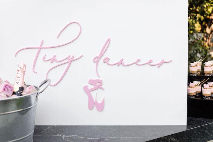 Tiny Dancer Ballet Sign from a Tutu Cute Birthday Party on Kara's Party Ideas | KarasPartyIdeas.com (19)