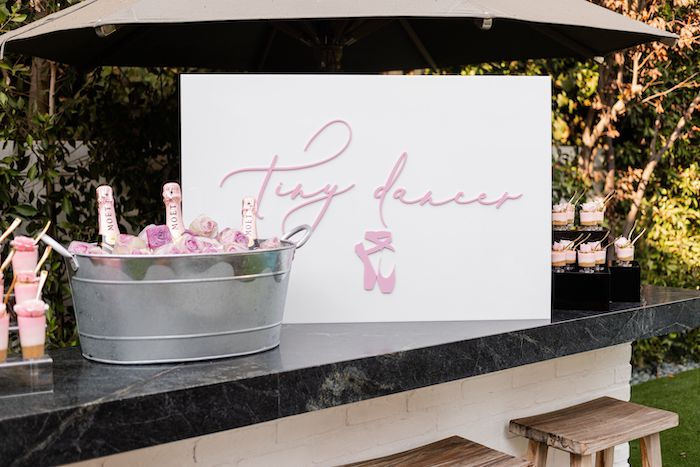 Tiny Dancer Beverage Bar + Sweet Table from a Tutu Cute Birthday Party on Kara's Party Ideas | KarasPartyIdeas.com (18)