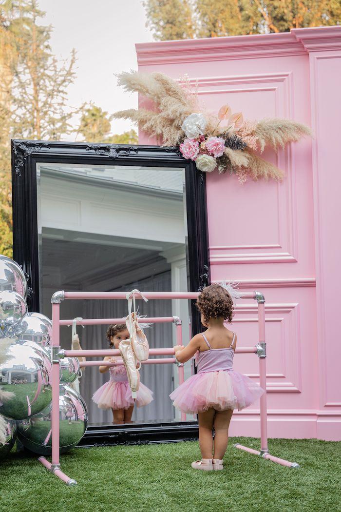 Ballet Bar from a Tutu Cute Birthday Party on Kara's Party Ideas | KarasPartyIdeas.com (15)