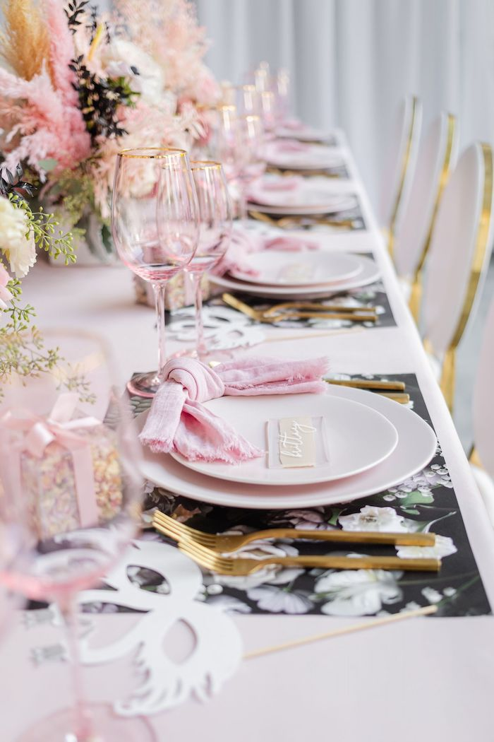 Ballet-inspired Guest Table from a Tutu Cute Birthday Party on Kara's Party Ideas | KarasPartyIdeas.com (46)