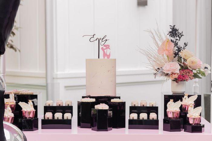 Ballet Themed Dessert Table from a Tutu Cute Birthday Party on Kara's Party Ideas | KarasPartyIdeas.com (6)