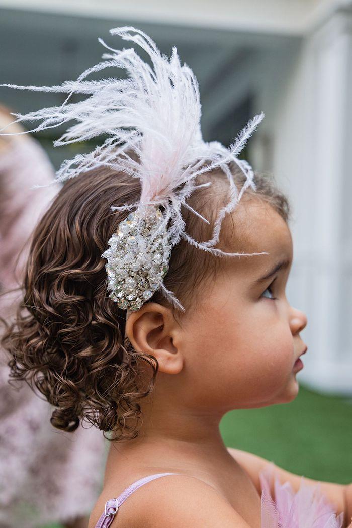 Swan-inspired Hair Clip from a Tutu Cute Birthday Party on Kara's Party Ideas | KarasPartyIdeas.com (43)