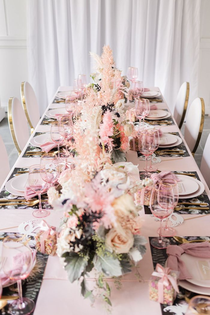 Ballet-inspired Guest Table from a Tutu Cute Birthday Party on Kara's Party Ideas | KarasPartyIdeas.com (42)