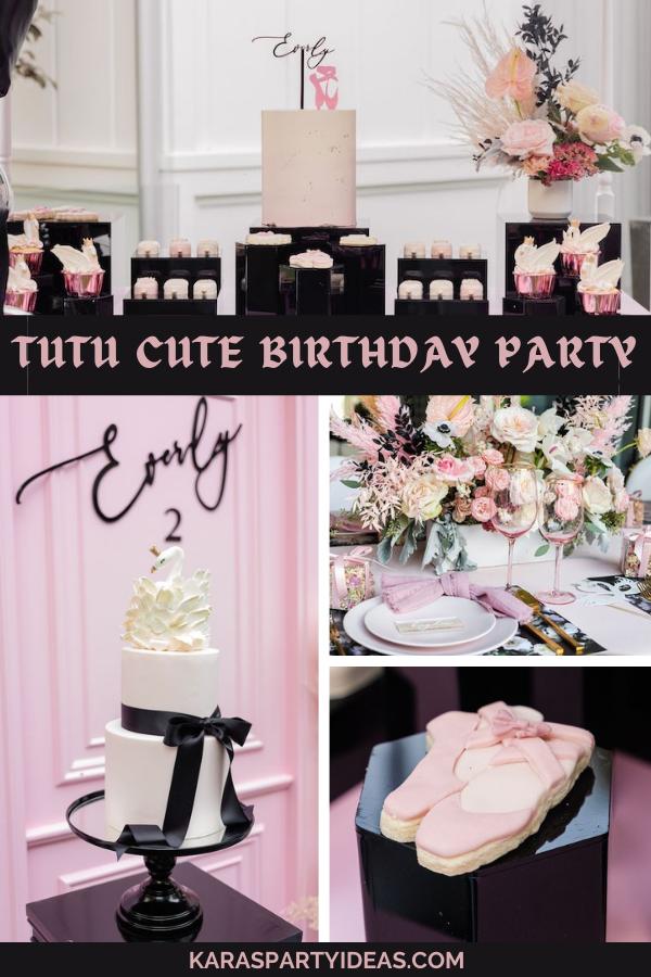 Tutu Cute Birthday Party via Kara's Party Ideas - KarasPartyIdeas.com