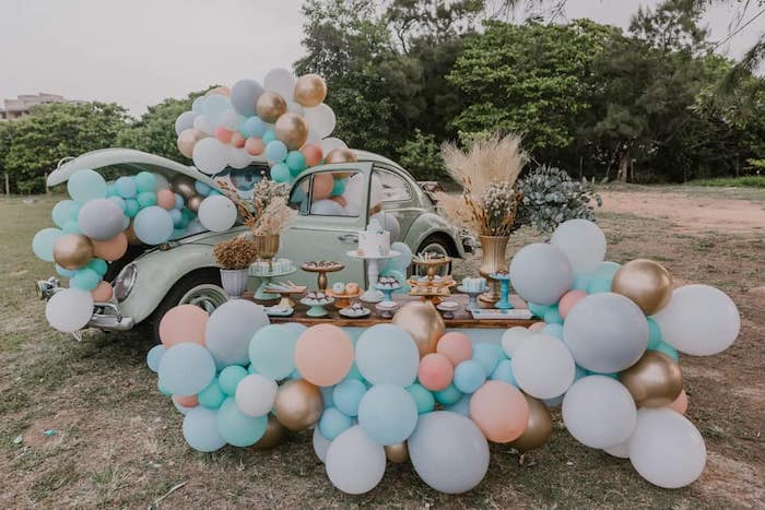 Vintage Boho VW Beetle Party on Kara's Party Ideas | KarasPartyIdeas.com (18)