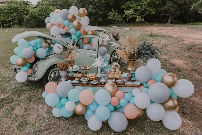 Vintage Boho VW Beetle Party on Kara's Party Ideas | KarasPartyIdeas.com (16)