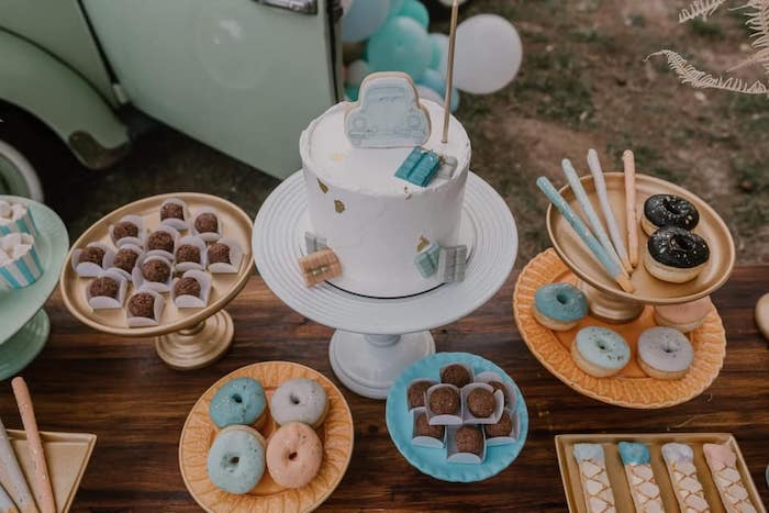 Boho Sweet Table from a Vintage Boho VW Beetle Party on Kara's Party Ideas | KarasPartyIdeas.com (14)