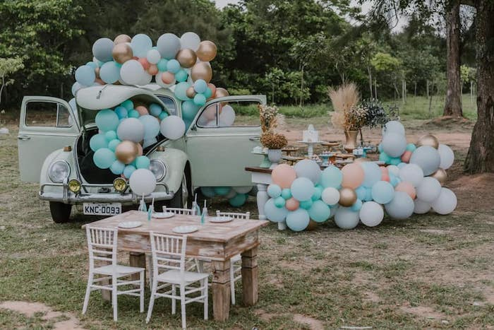 Vintage Boho VW Beetle Party on Kara's Party Ideas | KarasPartyIdeas.com (13)