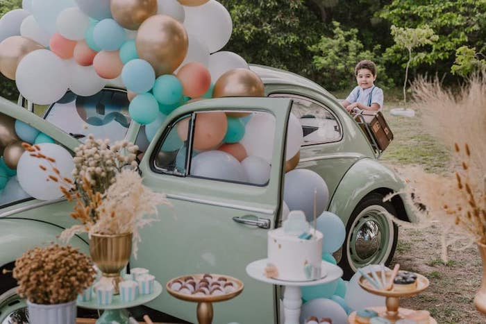 Vintage Boho VW Beetle Party on Kara's Party Ideas | KarasPartyIdeas.com (7)