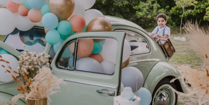 Vintage Boho VW Beetle Party on Kara's Party Ideas | KarasPartyIdeas.com (2)