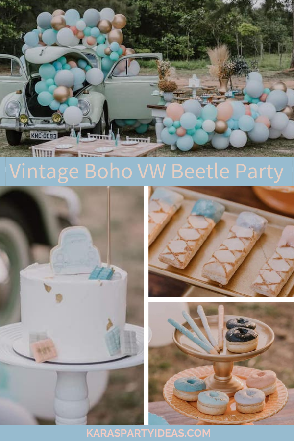 Vintage Boho VW Beetle Party via Kara's Party Ideas - KarasPartyIdeas.com