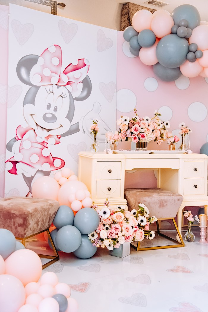 Vintage Pastel Minnie Mouse Party on Kara's Party Ideas | KarasPartyIdeas.com (9)