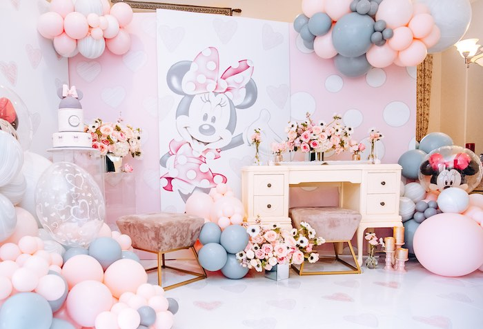 Vintage Pastel Minnie Mouse Party on Kara's Party Ideas | KarasPartyIdeas.com (8)
