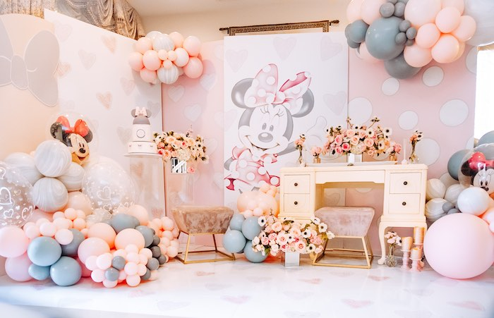 Vintage Pastel Minnie Mouse Party on Kara's Party Ideas | KarasPartyIdeas.com (7)