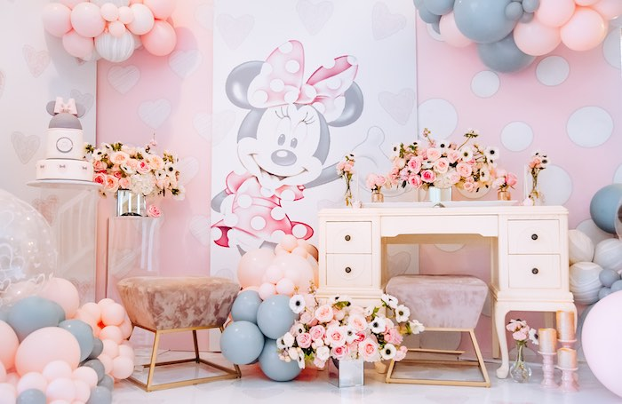 Vintage Pastel Minnie Mouse Party on Kara's Party Ideas | KarasPartyIdeas.com (6)