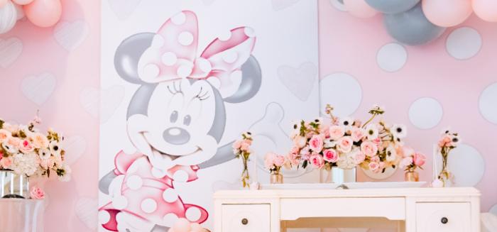 Vintage Pastel Minnie Mouse Party on Kara's Party Ideas | KarasPartyIdeas.com (1)
