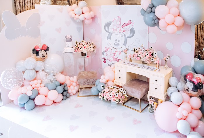 Vintage Pastel Minnie Mouse Party on Kara's Party Ideas | KarasPartyIdeas.com (10)