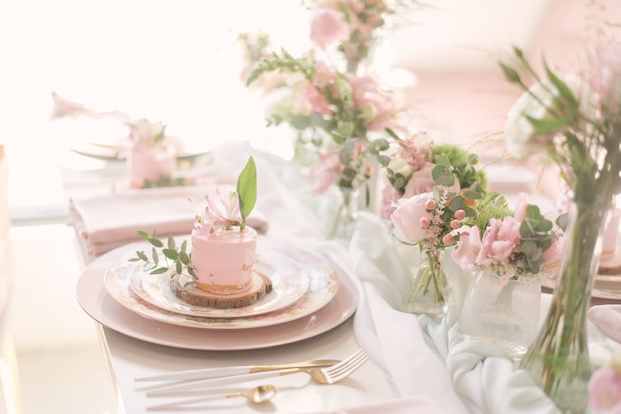 Fairy Themed Table Setting from a Woodland Butterfly Party on Kara's Party Ideas | KarasPartyIdeas.com (22)