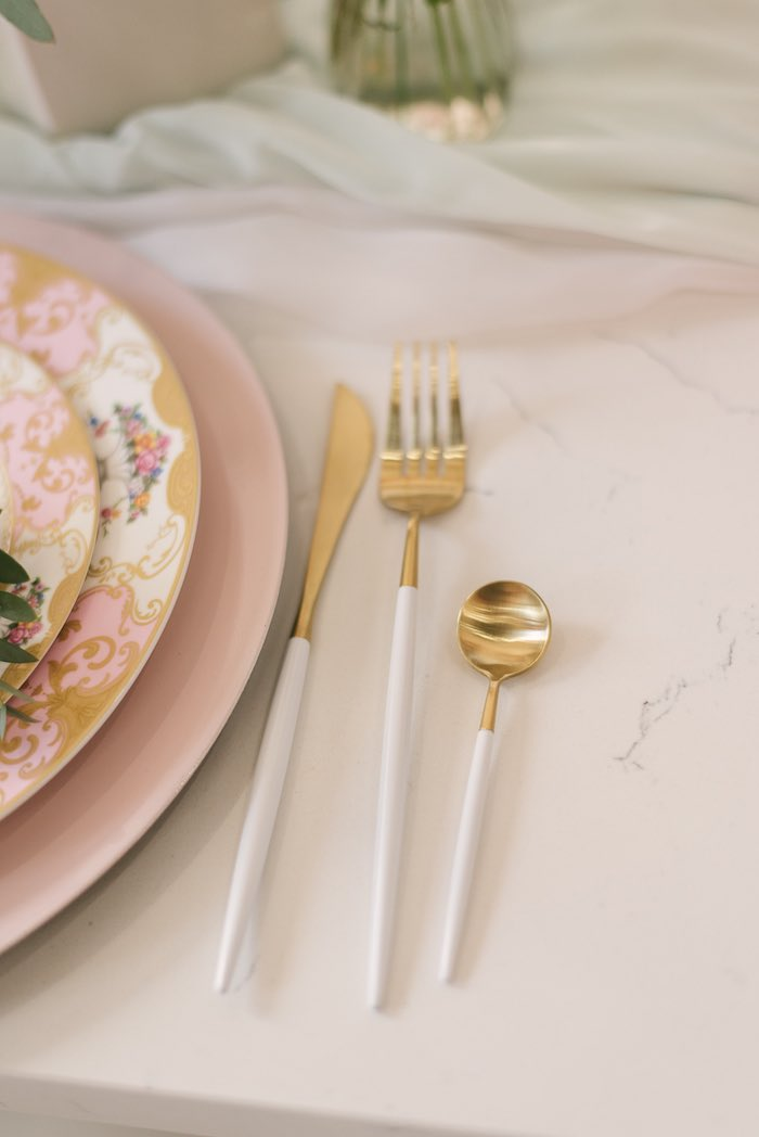 Modern Gold + White Flatware from a Woodland Butterfly Party on Kara's Party Ideas | KarasPartyIdeas.com (21)