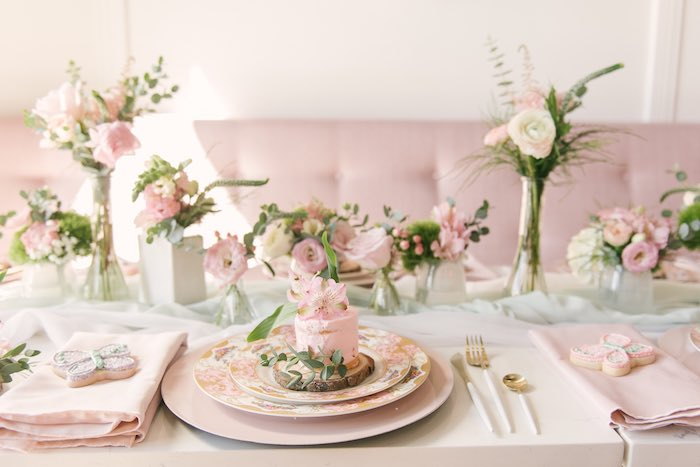 Woodland Fairy Themed Table Setting from a Woodland Butterfly Party on Kara's Party Ideas | KarasPartyIdeas.com (20)