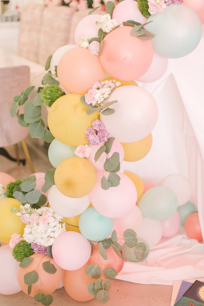 Floral Balloon Garland from a Woodland Butterfly Party on Kara's Party Ideas | KarasPartyIdeas.com (11)