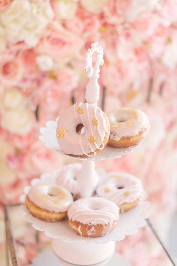 Pink & Gold Doughnuts from a Woodland Butterfly Party on Kara's Party Ideas | KarasPartyIdeas.com (29)