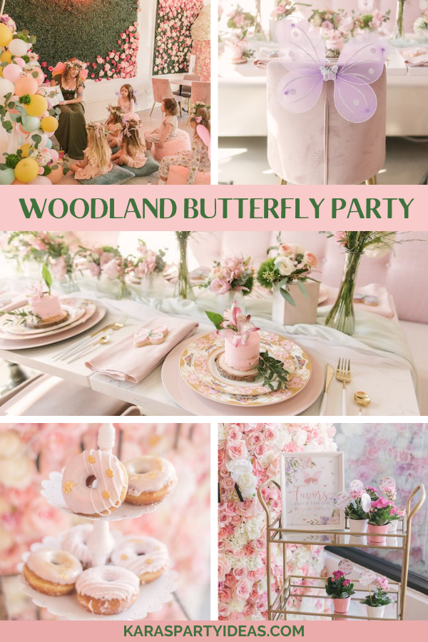 Woodland Butterfly Party via Kara's Party Ideas - KarasPartyIdeas.com