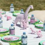 Girly Dino Picnic Party on Kara's Party Ideas | KarasPartyIdeas.com