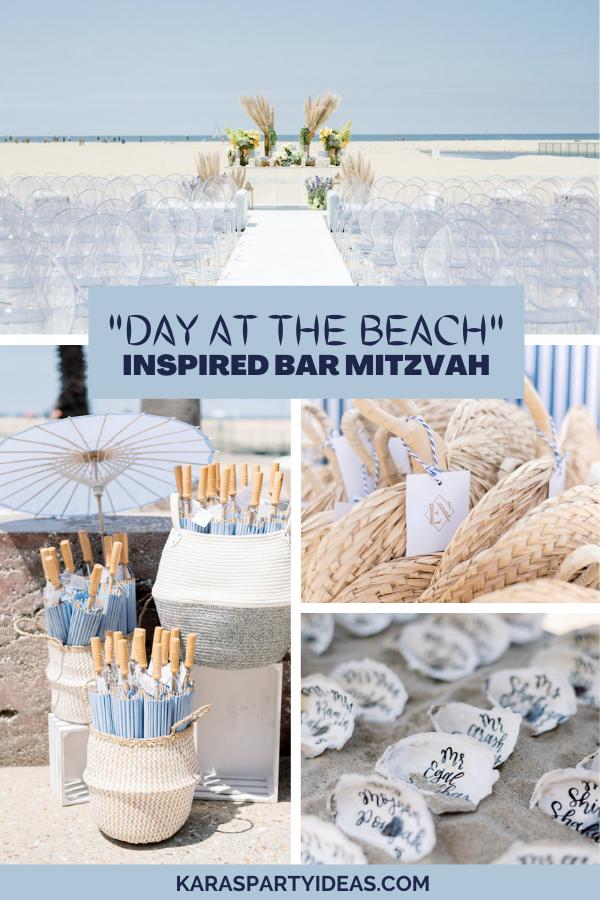 """Day at the Beach"" Inspired Bar Mitzvah via Kara's Party Ideas - KarasPartyIdeas.com"