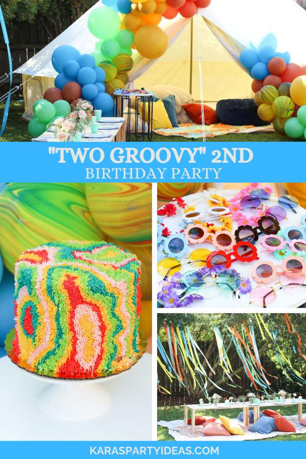 """TWO Groovy"" 2nd Birthday Party via Kara's Party Ideas - KarasPartyIdeas.com"