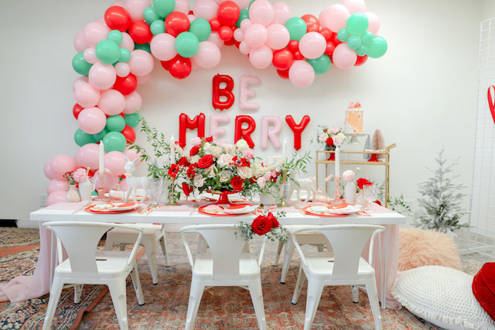 """Be Merry"" Colorful Christmas Party on Kara's Party Ideas 