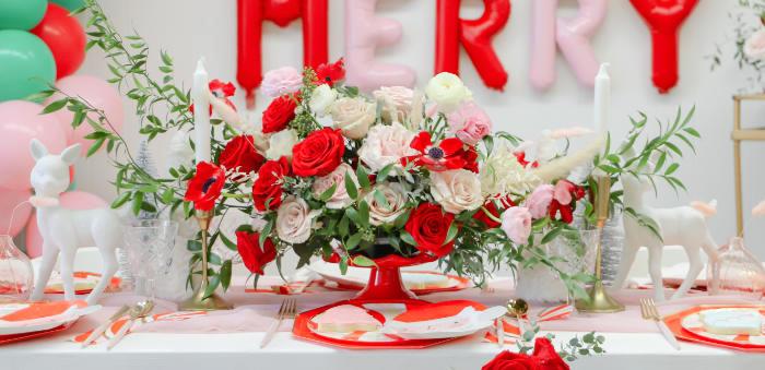"""Be Merry"" Colorful Christmas Party on Kara's Party Ideas | KarasPartyIdeas.com (1)"