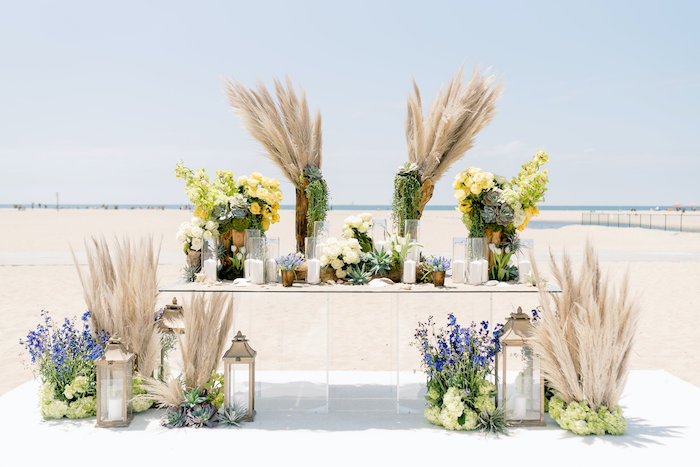 """Day at the Beach"" Inspired Bar Mitzvah Table on Kara's Party Ideas 