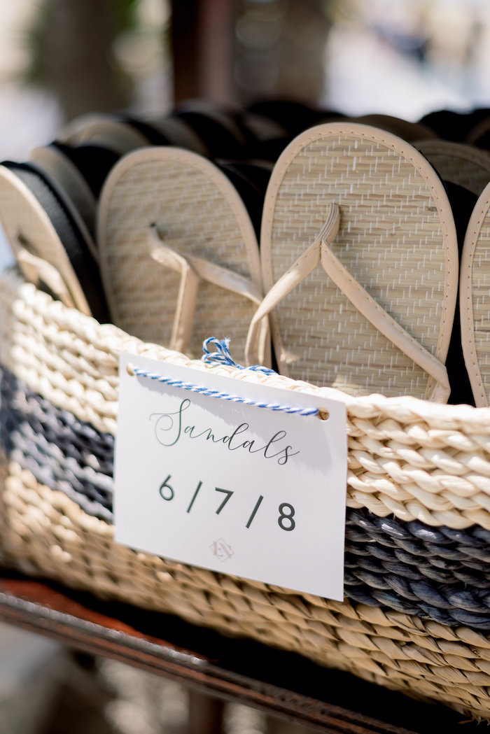 "Sandal Favors from a ""Day at the Beach"" Inspired Bar Mitzvah on Kara's Party Ideas 