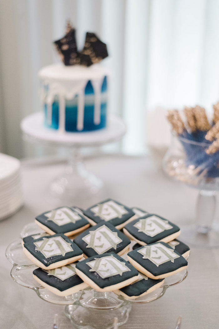 "Custom Cookies from a ""Day at the Beach"" Inspired Bar Mitzvah on Kara's Party Ideas 
