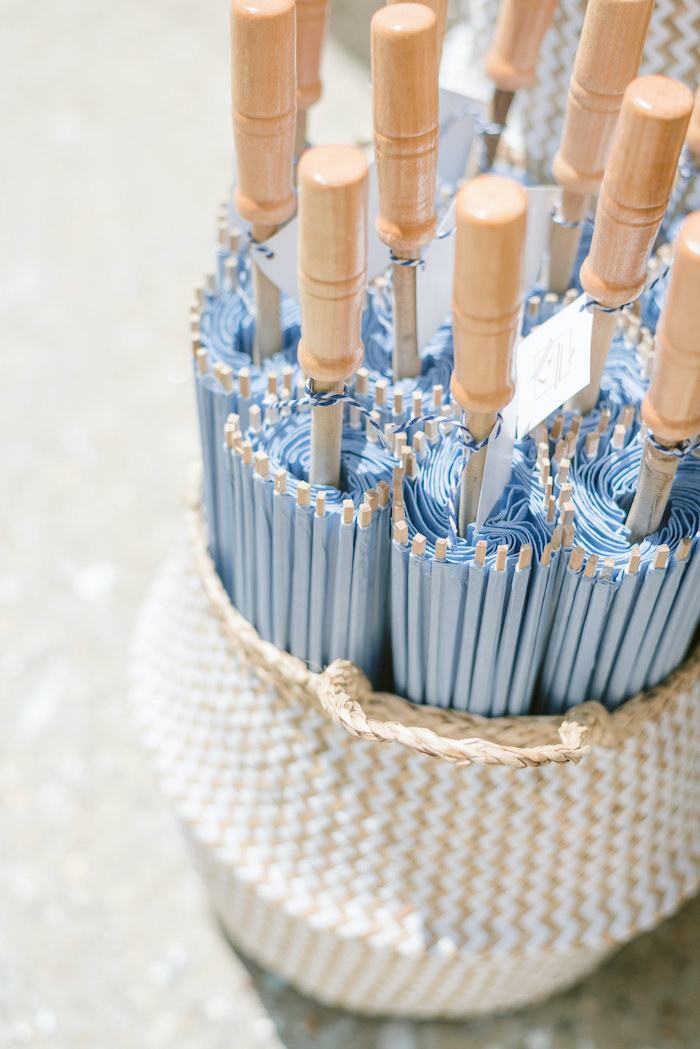 "Umbrella Favors from a ""Day at the Beach"" Inspired Bar Mitzvah on Kara's Party Ideas 