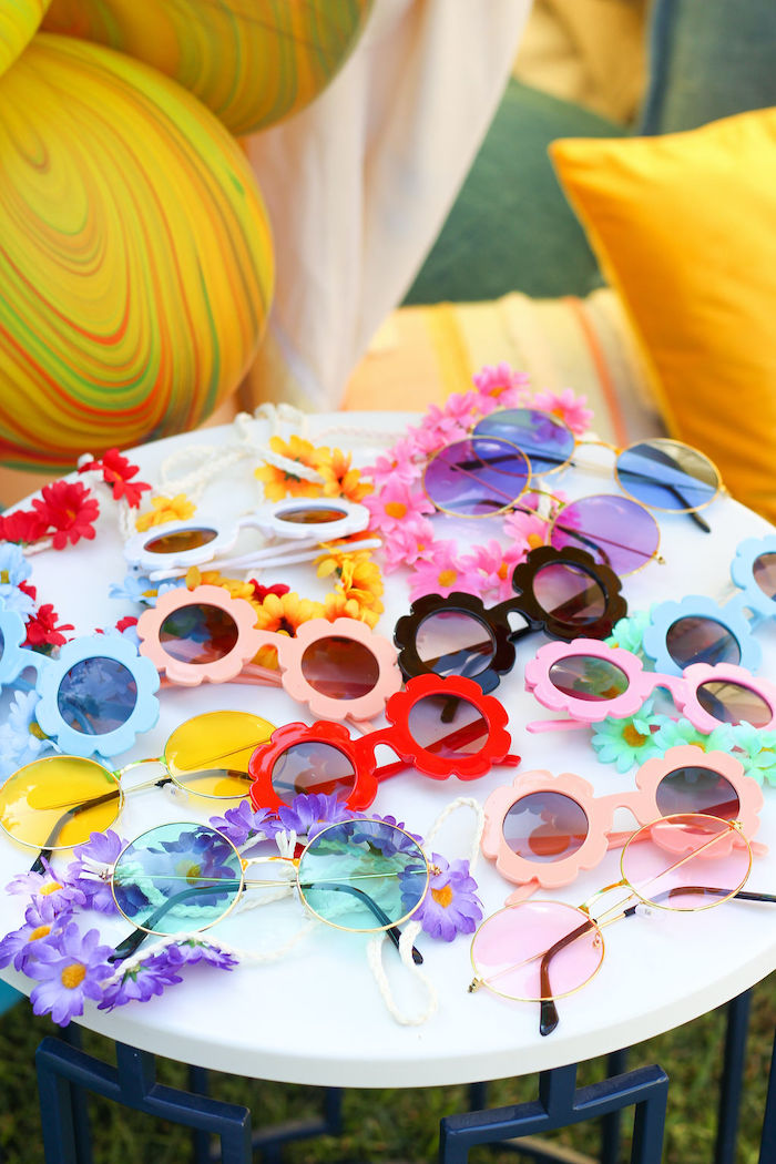 "Groovy Sunnies from a ""TWO Groovy"" 2nd Birthday Party on Kara's Party Ideas 
