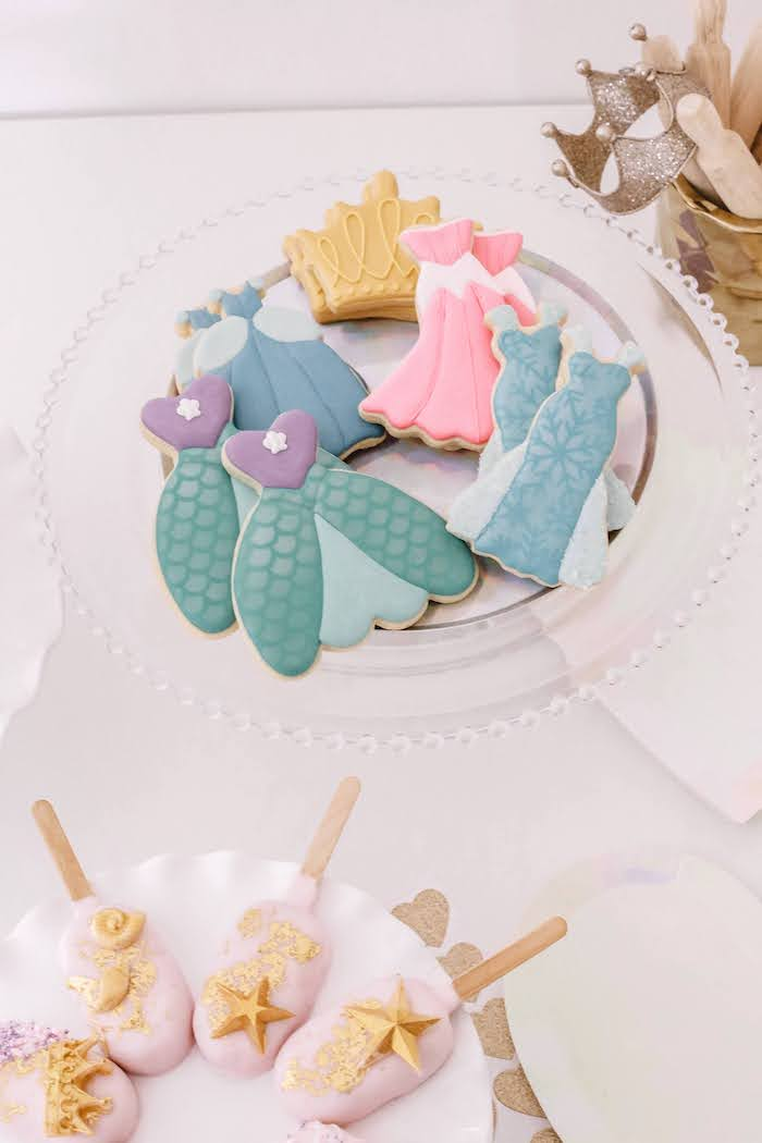 Princess Cookies from a 5th Birthday Princess Party on Kara's Party Ideas | KarasPartyIdeas.com (10)