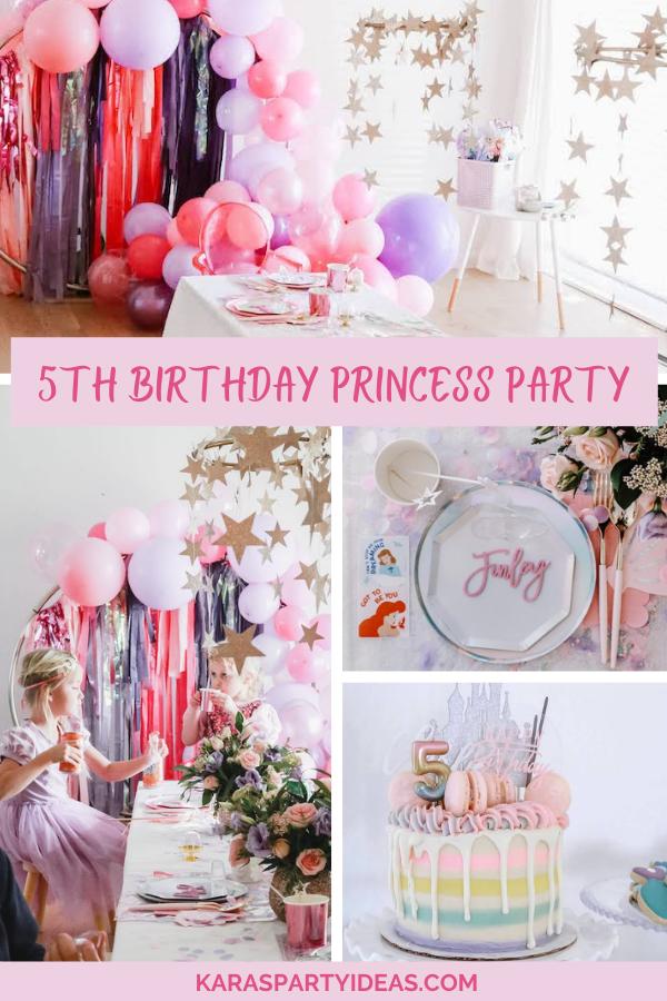 5th Birthday Princess Party via Kara's Party Ideas - KarasPartyIdeas.com