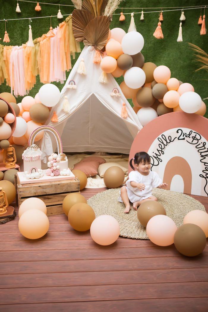 Boho Rainbow Birthday Party on Kara's Party Ideas | KarasPartyIdeas.com (13)