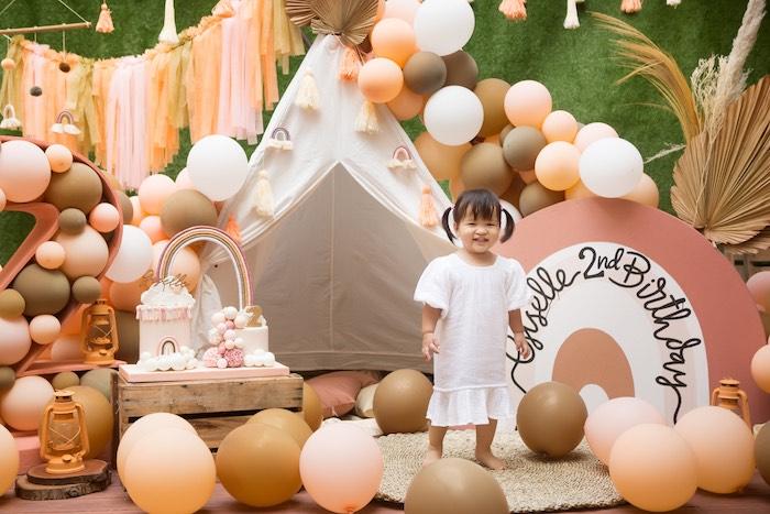 Boho Rainbow Birthday Party on Kara's Party Ideas | KarasPartyIdeas.com (12)