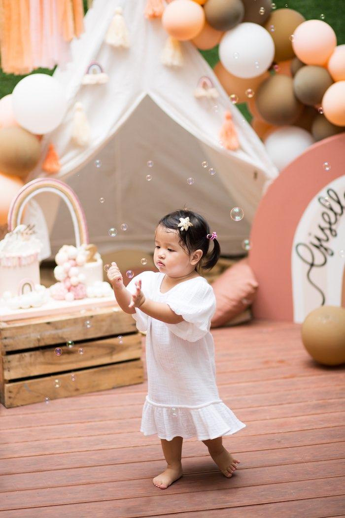 Boho Bubbles from a Boho Rainbow Birthday Party on Kara's Party Ideas | KarasPartyIdeas.com (8)