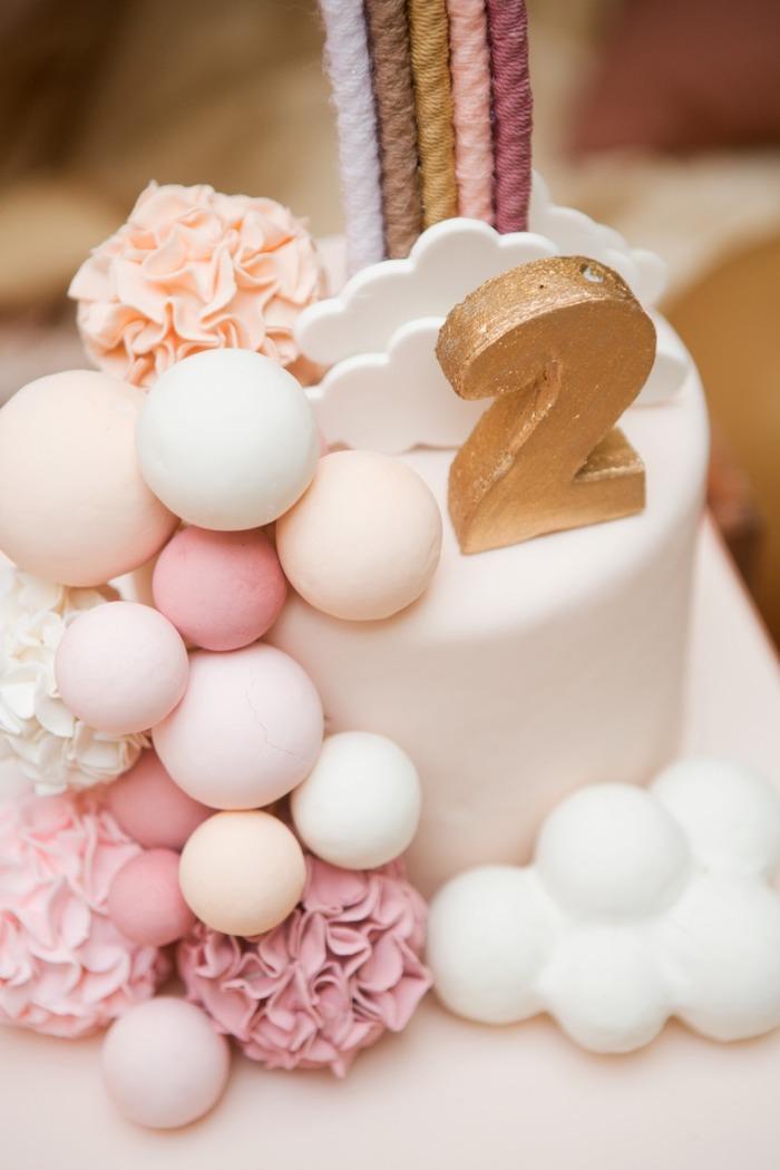 Boho Cloud Cake from a Boho Rainbow Birthday Party on Kara's Party Ideas | KarasPartyIdeas.com (5)