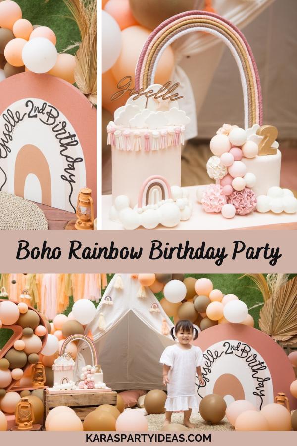 Boho Rainbow Birthday Party via Kara's Party Ideas - KarasPartyIdeas.com
